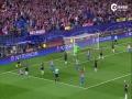 欧冠视频-比达尔鲁莽犯规送点球 格列兹曼命中门框罚丢