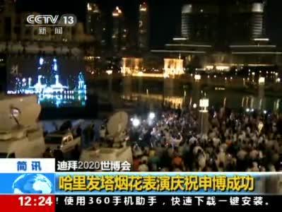 《新闻30分》 哈里发塔烟花表演庆祝申博成功