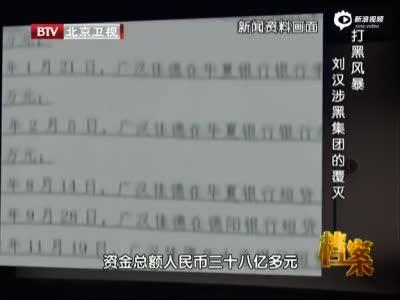 《档案》 打黑风暴 刘汉涉黑集团的覆灭
