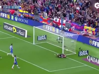 梅西vs西班牙人进球主攻集