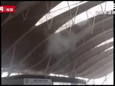 货台左近冒出烟雾