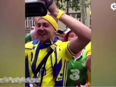 瑞典爱尔兰球迷大合唱