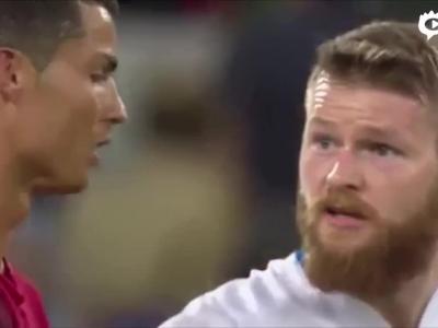 曝C罗疑拒绝冰岛球员换球衣