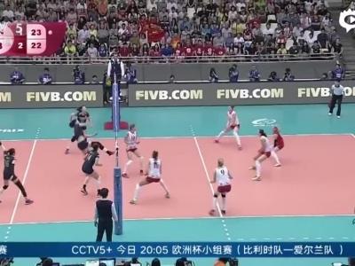 中国女排3-2险胜塞尔维亚