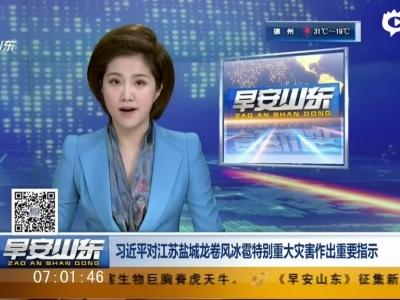 习近平对江苏盐城龙卷风冰雹特别重大灾害作出重要指示