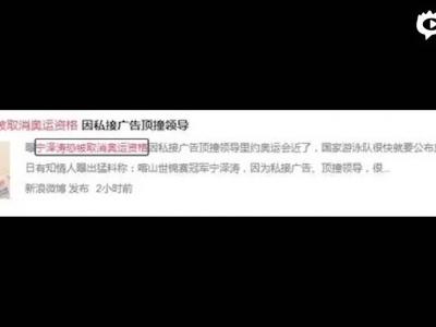 网曝宁泽涛恐无缘里约