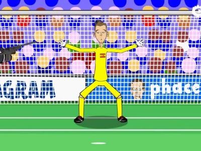 动画恶搞西班牙0-2意大利