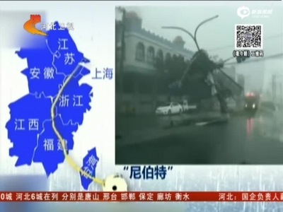"""""""尼伯特""""今天登陆福建  华东将迎狂风暴雨"""