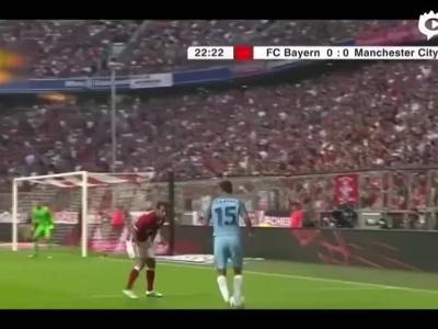 瓜帅首秀曼城0-1拜仁