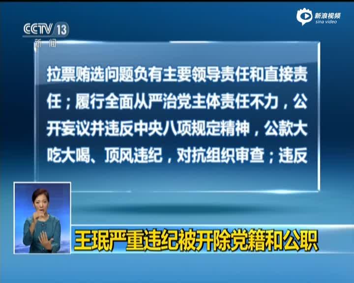 辽宁原书记王珉被双开 公开妄议并违反八项规定
