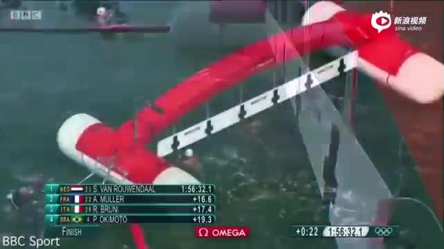 现场:10公里游泳亚军终点前硬把对手按下水
