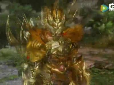 《怪物猎人OL》新版时装 狮子金铠