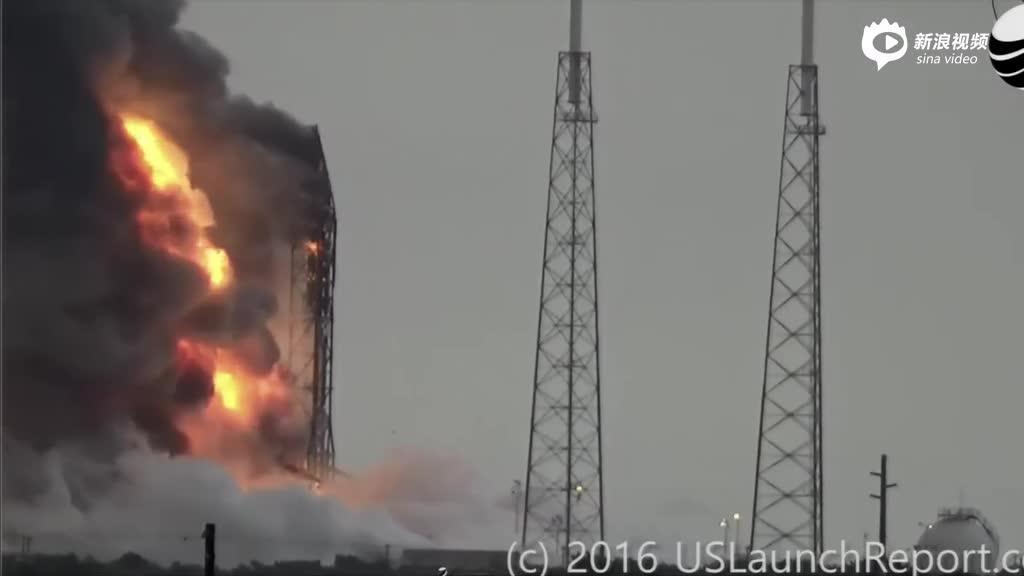 近距离看SpaceX火箭爆炸全程