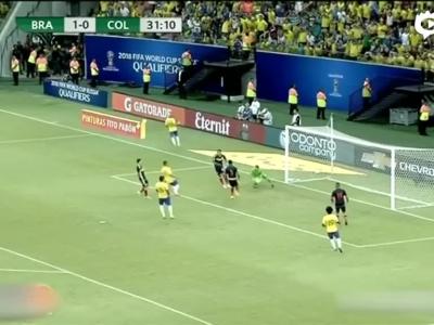 巴西2-1绝杀哥伦比亚