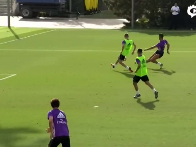 C罗本泽马伤愈首次合练