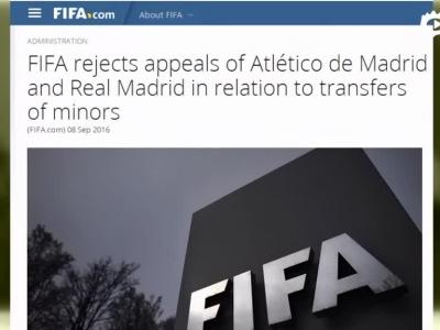 FIFA禁止皇马马竞2017年引援