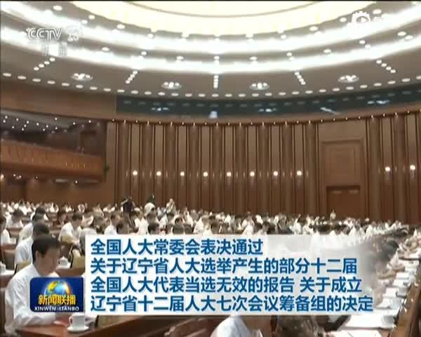 人大常委会确认辽宁45名全国人大代表当选无效