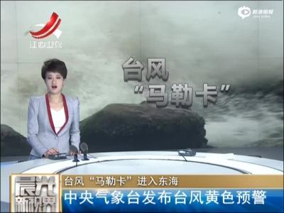 """台风""""马勒卡""""进入东海:中央气象台发布台风黄色预警"""