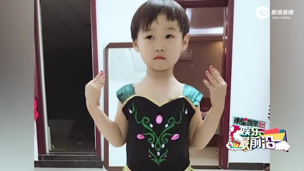 岳云鹏晒女儿正面照
