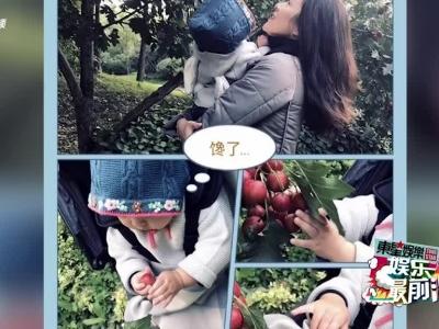 视频:章子怡带醒醒摘山楂 母女口水流满嘴