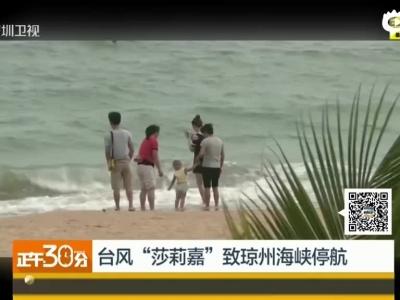 """台风""""莎莉嘉""""今天9时50分在海南省万宁市和乐镇登陆"""