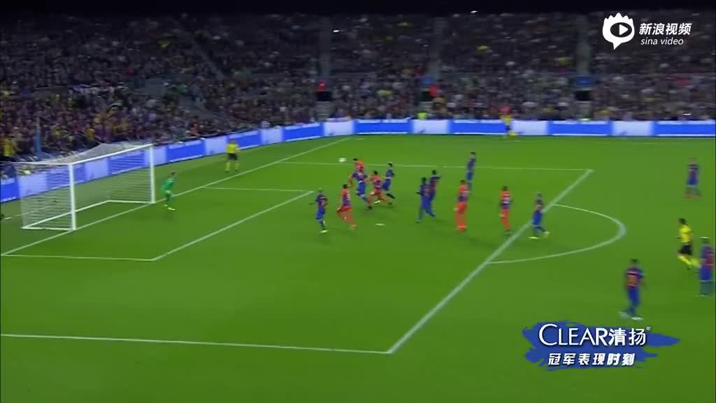 视频集锦-梅西3球内马尔失点再破门 巴萨4-0曼城