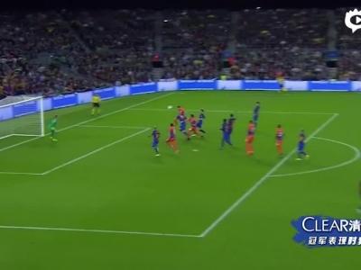 梅西3球内马尔失点再破门 巴萨4-0曼城
