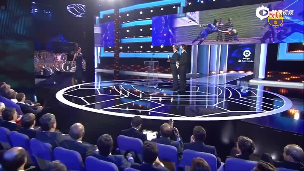 视频-西班牙足球联赛颁奖礼 梅西蝉联最佳前锋