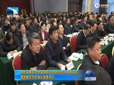蒋超良接任湖北省委书记