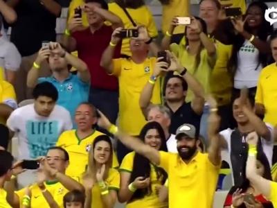内马尔破门助巴西2球领先