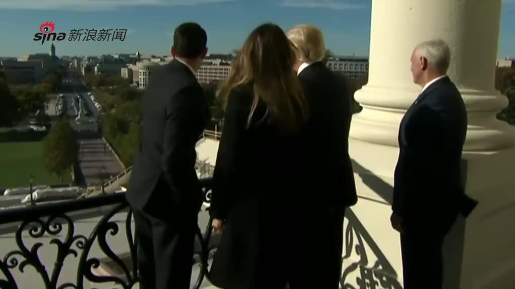 川普赴国会山会见众议院议长 登高俯瞰华盛顿