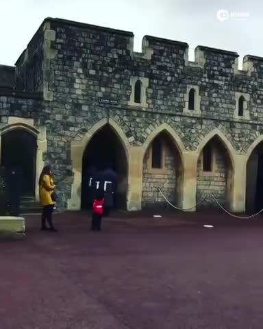 英国小男孩生日当天去看皇家卫兵 收获意外惊喜