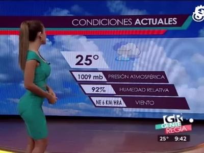 视频:爱上天气预报!墨西哥女主播臀部超翘