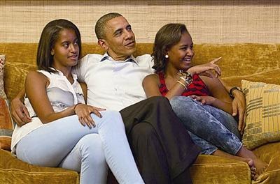 奥巴马催泪致词两女儿 你们是我最大的骄傲