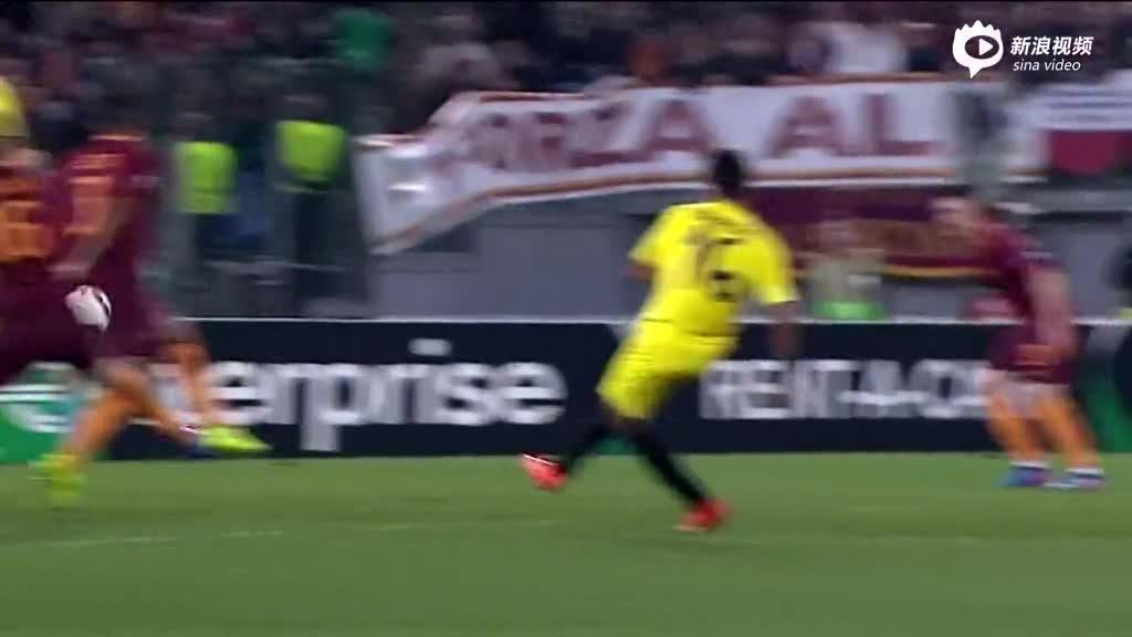 视频集锦-维尔马伦失误送礼 10人罗马0-1输球仍晋级