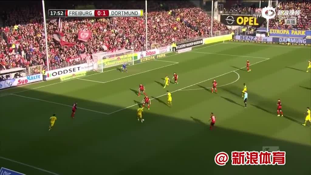 视频集锦-奥巴梅杨双响罗伊斯送助 多特3-0大胜