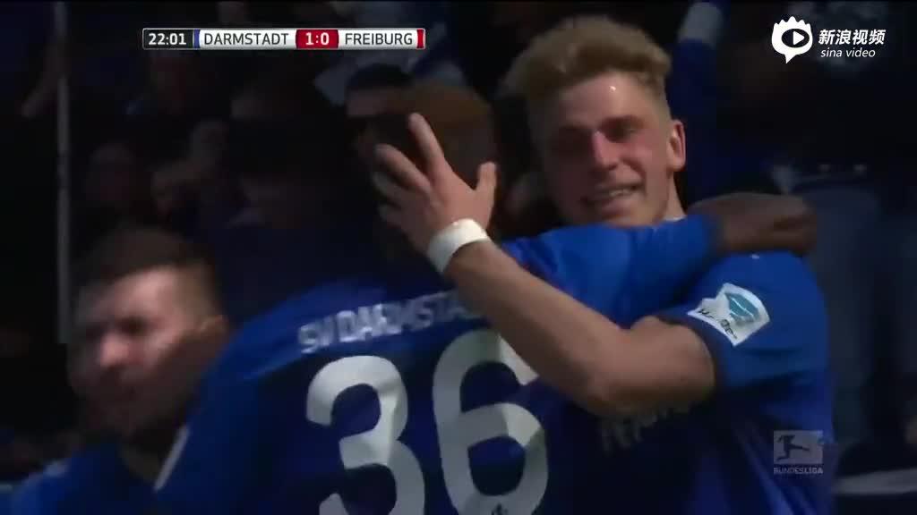 视频-达姆施塔特3-0弗赖堡 斯基普洛克右脚抽射锁定胜局