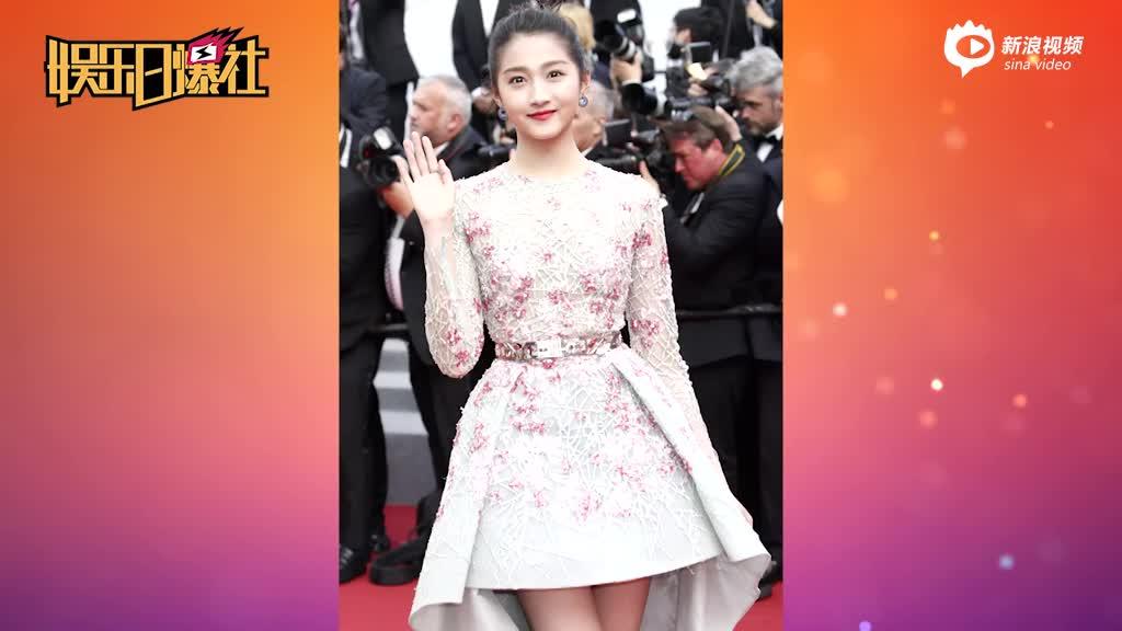 戛纳70周年红毯中国女星比美