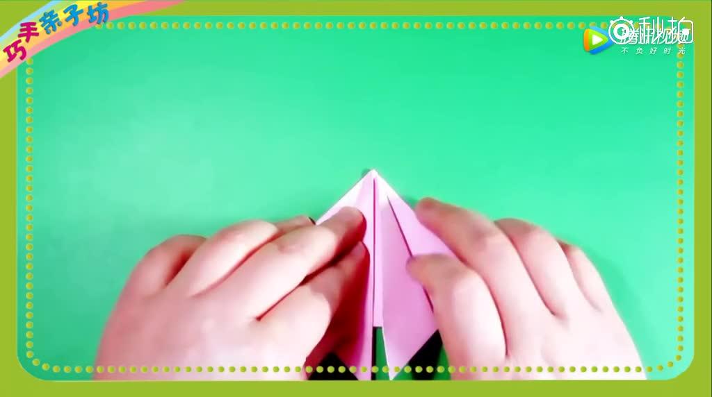 六一儿童节快到了,最简单的折纸教程桃子,送给幼儿园小朋友
