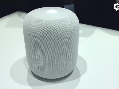 近距离观赏苹果Siri智能音箱HomePod