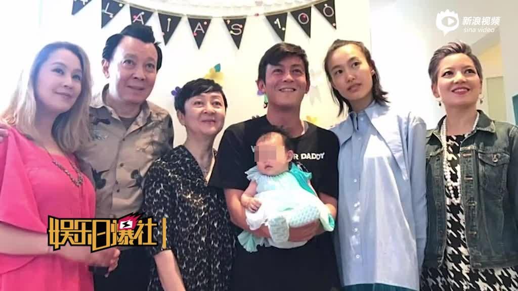 网传陈冠希女儿百日宴照片