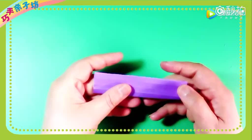 夏天最简单的折纸教程戒指,分分钟就能折出来,孩子看完也能会