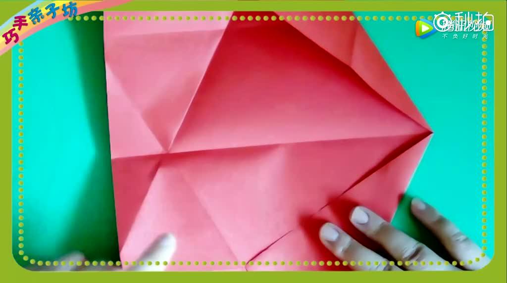 亲子折纸三角形礼物盒,能装糖果,首饰的盒子分分钟就能折出来