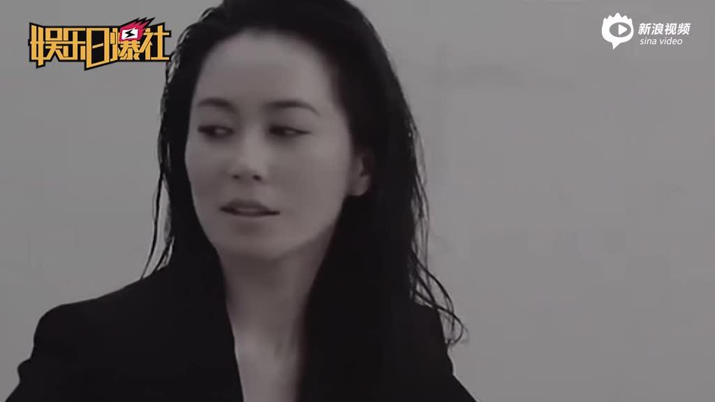 俞飞鸿穿黑色西装大气洒脱