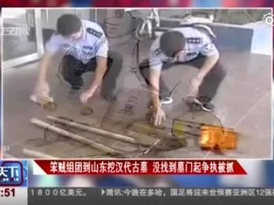 笨贼组团到山东挖汉代古墓  没找到墓门起争执被抓