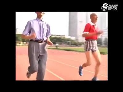 广西田径老将圈粉无数 84岁上赛场玩跨栏