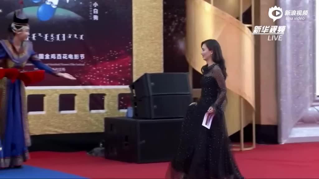 《战狼2》卢靖姗亮相金鸡红毯