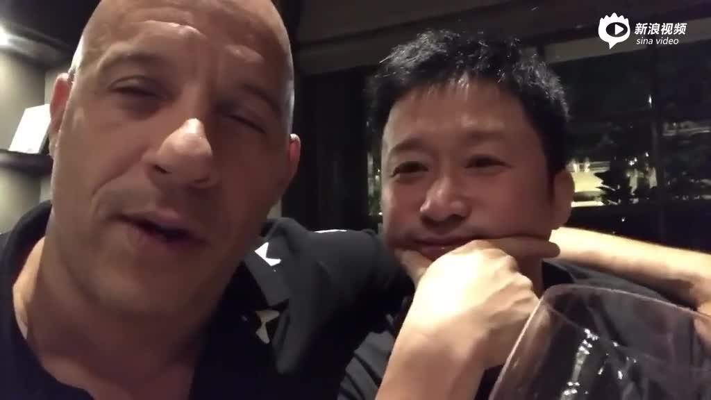 视频:范·迪赛尔搂吴京宣布要合作