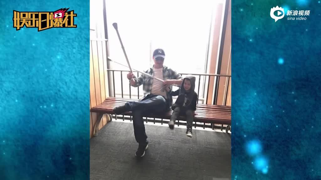 视频:吴京和儿子玩耍被指发胖谢楠极力护夫秀恩爱