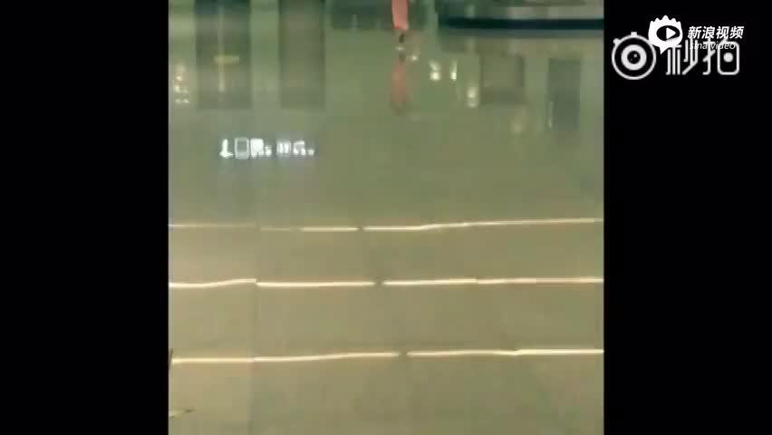 可爱!刘畊宏女儿小泡芙机场奔跑